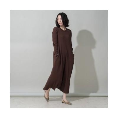 EUCLAID/エウクレイド 【her EUCLAID】バックホックワンピース ブラウン 40