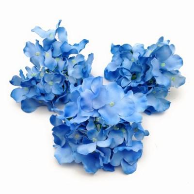 造花 アジサイ 花のみ 直径15cm 3個 (ブルー)