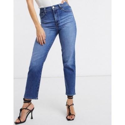 ジェイ ブランド J Brand レディース ジーンズ・デニム ボトムス・パンツ Jules High Rise Straight Leg Jeans In Mid Blue Wash