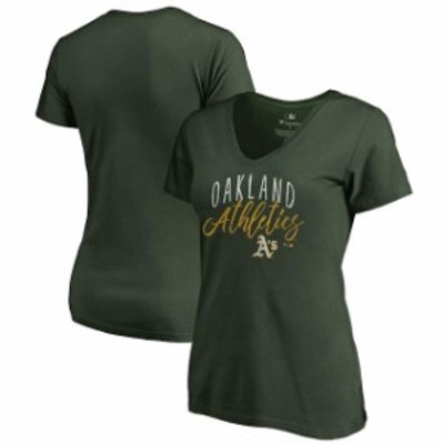 Fanatics Branded ファナティクス ブランド スポーツ用品  Fanatics Branded Oakland Athletics Womens Green Graceful