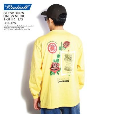 ラディアル Tシャツ RADIALL SLOW BURN - CREW NECK T-SHIRT L/S -YELLOW-