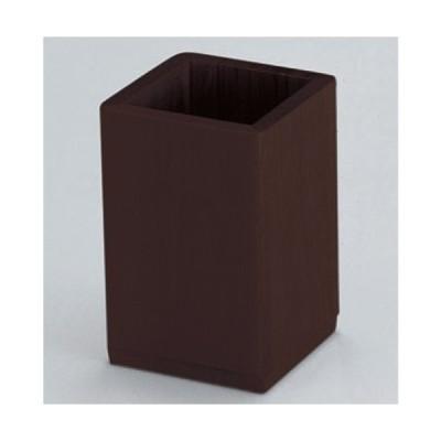 箸 角箸立て ブラウン [8.5 x 8.5 x 13.5cm] 木製品 (7-869-11) 料亭 旅館 和食器 飲食店 業務用