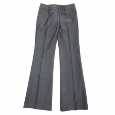 【中古】マルイ アールユー ru ウール センタープレス ブーツカット パンツ スラックス ストレッチ 1 灰 グレー♪5