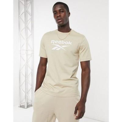 リーボック Reebok メンズ Tシャツ トップス Classics t-shirt with vector logo in beige ベージュ