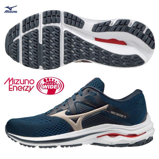 【美津濃MIZUNO】WAVE INSPIRE 17 SW 超寬楦支撐型男款慢跑鞋 ENERZY中底材質 J1GC214542