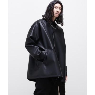 ジャケット ライダースジャケット エコレザービッグシルエットシャツジャケット