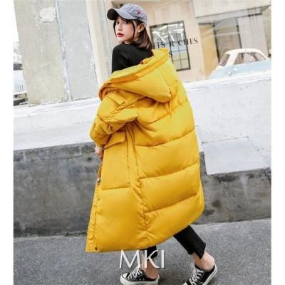 ダウンコート レディース服 大人 冬服 コート 中綿 ダウンコート ダウンジャケット ロング丈 上品 フード付き