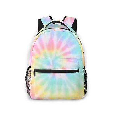 Cool Backpack for Teen Girls Tie Dye School Book Bags Travel Casual Laptop Daypack for Men Women【並行輸入品】