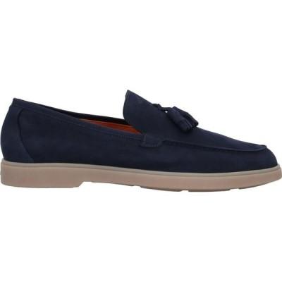 サントーニ SANTONI メンズ ローファー シューズ・靴 Loafers Blue