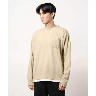 tシャツ Tシャツ ポリサカリバフェイクレイヤードロンT