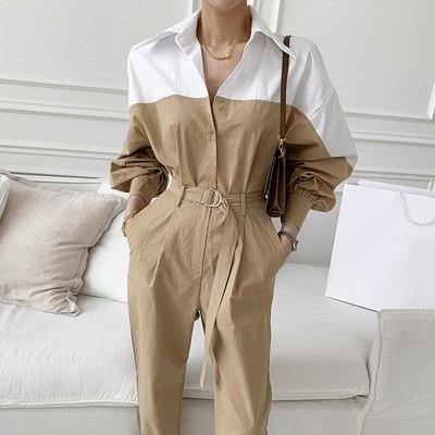 💝 JULYEI💝 💗4.4 BUY NOW+【 ハンサムでクールなオーバーオール,ベルト付き上半身はA4ウエスト】・DAILY LOOK、韓国のファッションコレクション 💗