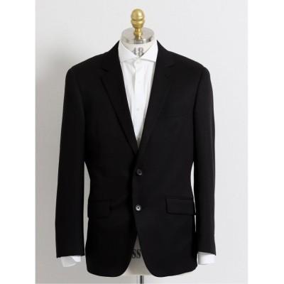 【タカキュー】 ストレッチウォッシャブル シャドーチェック柄レギュラーフィット2ピーススーツ メンズ ブラック A6 TAKA-Q