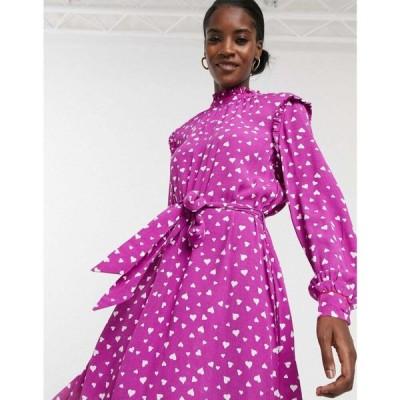 レズメ Resume レディース ワンピース ワンピース・ドレス Millah polka dot print dress in purple パープル