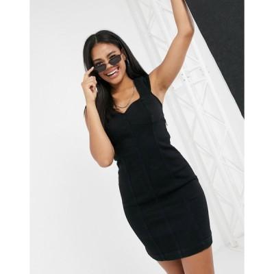 ボルコム ミニドレス レディース Volcom I'm Not Sweet Dress in black エイソス ASOS sale ブラック 黒