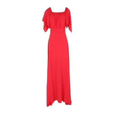 KITAGI® ロングワンピース&ドレス レッド 38 アセテート 69% / シルク 31% ロングワンピース&ドレス