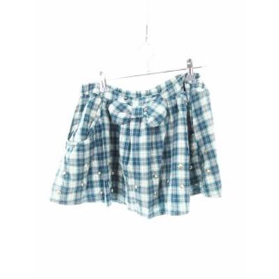 【中古】キャンディストリッパー Candy Stripper パンツ ショート スカパン チェック 2 緑 グリーン /MO レディース