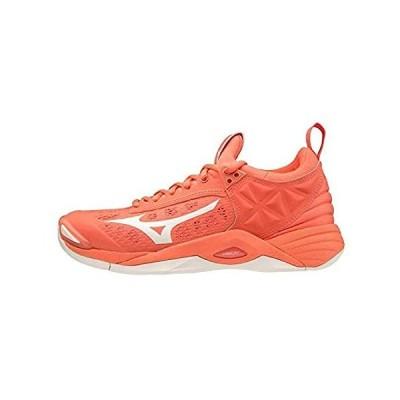 特別価格Mizuno Women's Momentum Volleyball Shoe, Livingcoral Snowwhite, 9.5 UK好評販売中