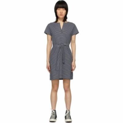 アーペーセー A.P.C. レディース ワンピース ワンピース・ドレス Navy and White Striped Linda Dress Navy