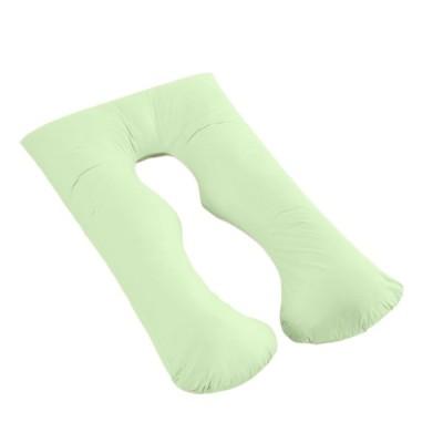 ポリエステル繊維 U形 ボディフル 妊娠枕 柔らかい 妊娠用クッション リラクゼーション 寝具 全9色 - グリーン