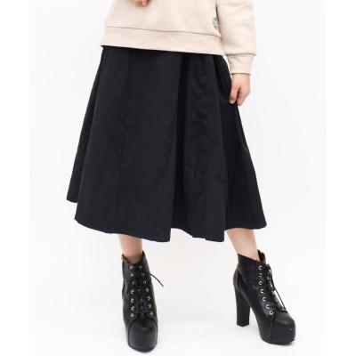 【シュシュ】 切替ミディスカート キッズ ブラック XXS/130 SHUSHU