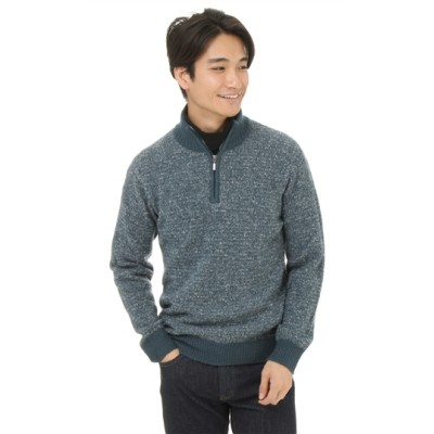 フロントジップハイネックセーター
