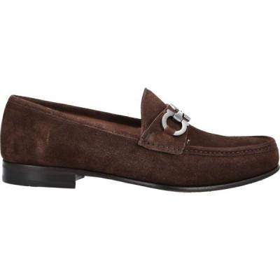 サルヴァトーレ フェラガモ SALVATORE FERRAGAMO メンズ ローファー シューズ・靴 Loafers Dark brown