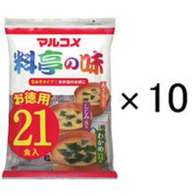 マルコメマルコメインスタント生みそ汁料亭の味お徳用1袋(21食入)×10袋