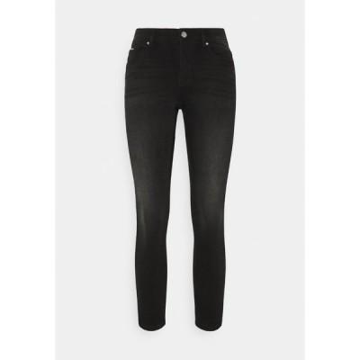 オンリー プティ デニムパンツ レディース ボトムス ONLFCARMEN DECO STITCH - Jeans Skinny Fit - black