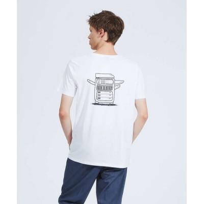 (ABAHOUSE/アバハウス)【OKAY】 Drucke und Kopien 半袖Tシャツ/メンズ ホワイト