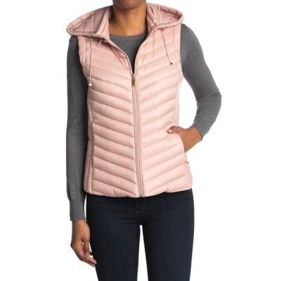 ギャレリ− レディース ジャケット&ブルゾン アウター Packable Zip Drawstring Hood Vest ROSE QUARTZ
