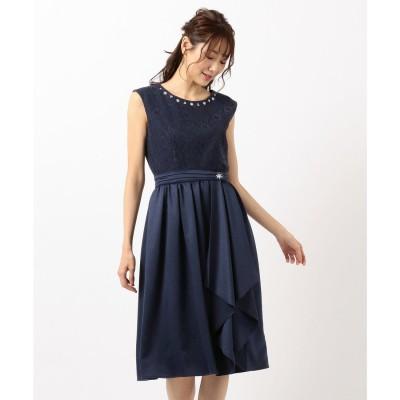 Feroux 【3way】オーバースカートセット ドレス (ネイビー系)