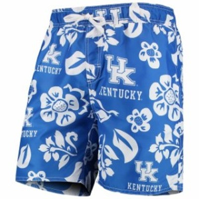 Wes & Willy ウェス アンド ウィリー スポーツ用品  Wes & Willy Kentucky Wildcats Royal Floral Volley Swim Trunks