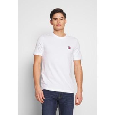 トミー ヒルフィガー メンズ Tシャツ トップス ICON LABEL RELAX TEE - Print T-shirt - white white
