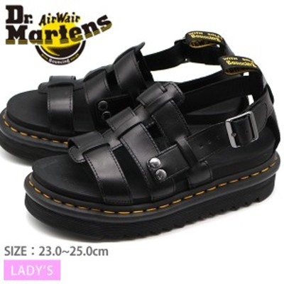ドクターマーチン サンダル レディース 靴 ストラップ 黒 ブラック 厚底 おしゃれ Dr.Martens ZEBRILUS TERRY 23521001