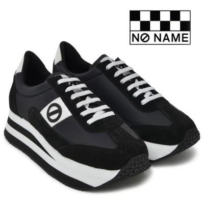 ノーネーム スニーカー プラト ジョグ ナイロン 定番 厚底 P.JOG-00109 レディース pjog00109 黒 ブラック BLACK 婦人靴 NO NAME PLATO JOG NYLON