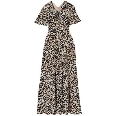 テンパリー・ロンドン TEMPERLEY LONDON ロングワンピース&ドレス ベージュ 6 レーヨン 100% ロングワンピース&ドレス