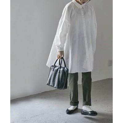 シャツ ブラウス ラグランフレアシャツ チュニック シャツワンピ