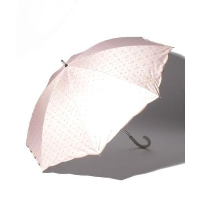 (PAUL & JOE ACCESSORIES/ポール アンド ジョー アクセソワ)PAUL & JOE ACCESSOIRES(ポール アンド ジョー アクセソワ)晴雨兼用日傘 ジャガード ワンポイント刺繍/レディース ペールピンク