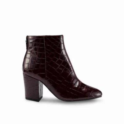 トップショップ ブーツ Brooklyn Crocodile Boots Burgundy