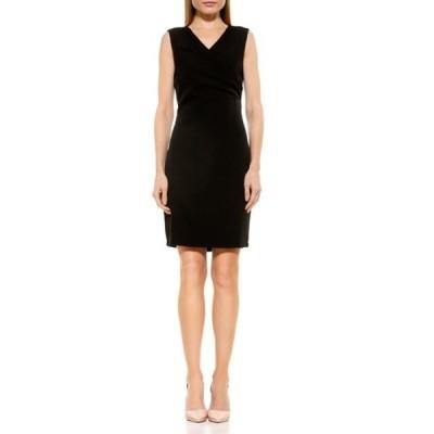 アレクシアアドマー レディース ワンピース トップス Kylie V-Neck Ruched Dress BLACK