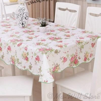 テーブルクロス テーブルマット PVC 防撥水 防油 防塵 厚手 耐熱 多用途 北欧 化粧台カバー 円形