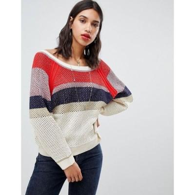 バッシュ レディース パーカー・スウェットシャツ アウター BA&SH Striped Oversized Sweater Multicolor