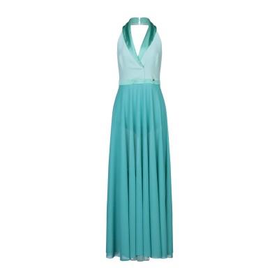 DIVEDIVINE ロングワンピース&ドレス ターコイズブルー 44 ポリエステル 100% ロングワンピース&ドレス