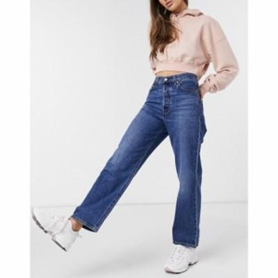 リーバイス Levis レディース ジーンズ・デニム ボトムス・パンツ Ribcage Straight Leg Ankle Grazer Jeans In Dark Wash Blue