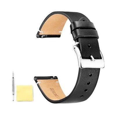 BINLUN Genuine Leather Watch Straps Quick Release Leather Watch Bands with