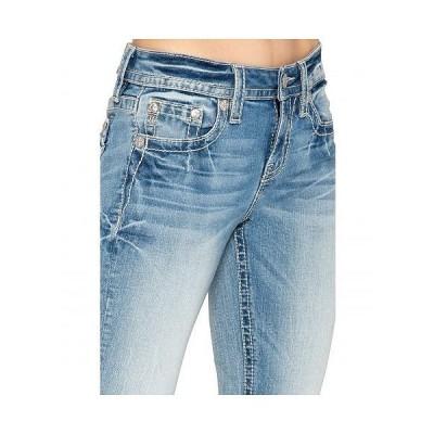 Miss Me ミスミー レディース 女性用 ファッション ジーンズ デニム Cross Embellished Skinny Jeans in Light Blue - Light Blue