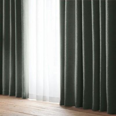 厚地カーテン フーガ ブラック(1枚) 巾100cm×丈105cm