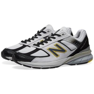 ニューバランス New Balance メンズ スニーカー シューズ・靴 m990sb5 - made in the usa White/Black/Yellow