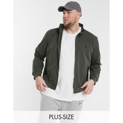 フレンチコネクション メンズ ジャケット&ブルゾン アウター French Connection Tall harrington jacket in khaki Khaki