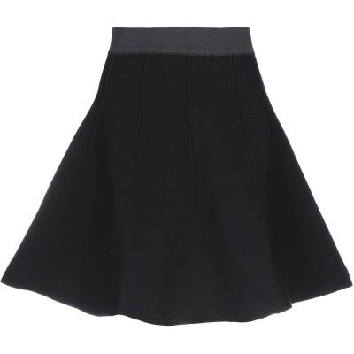 BOUTIQUE MOSCHINO ひざ丈スカート ブラック 44 レーヨン 70% / ナイロン 30% / ポリウレタン ひざ丈スカート